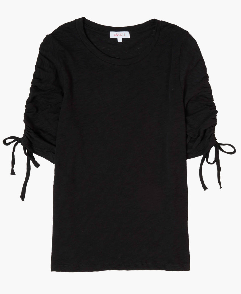 Ruched Sleeve Tee