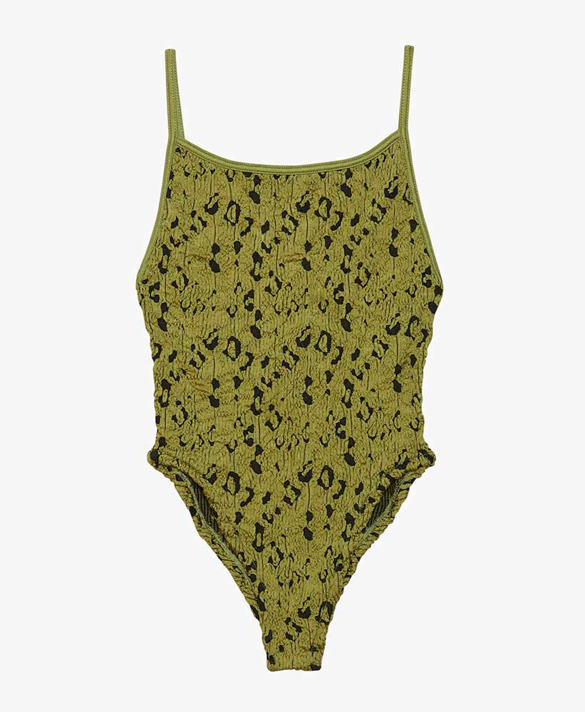 Green Leopard One-Piece Swimsuit