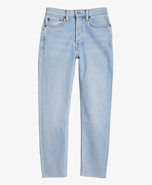 90s High Rise Ankle Crop Jeans