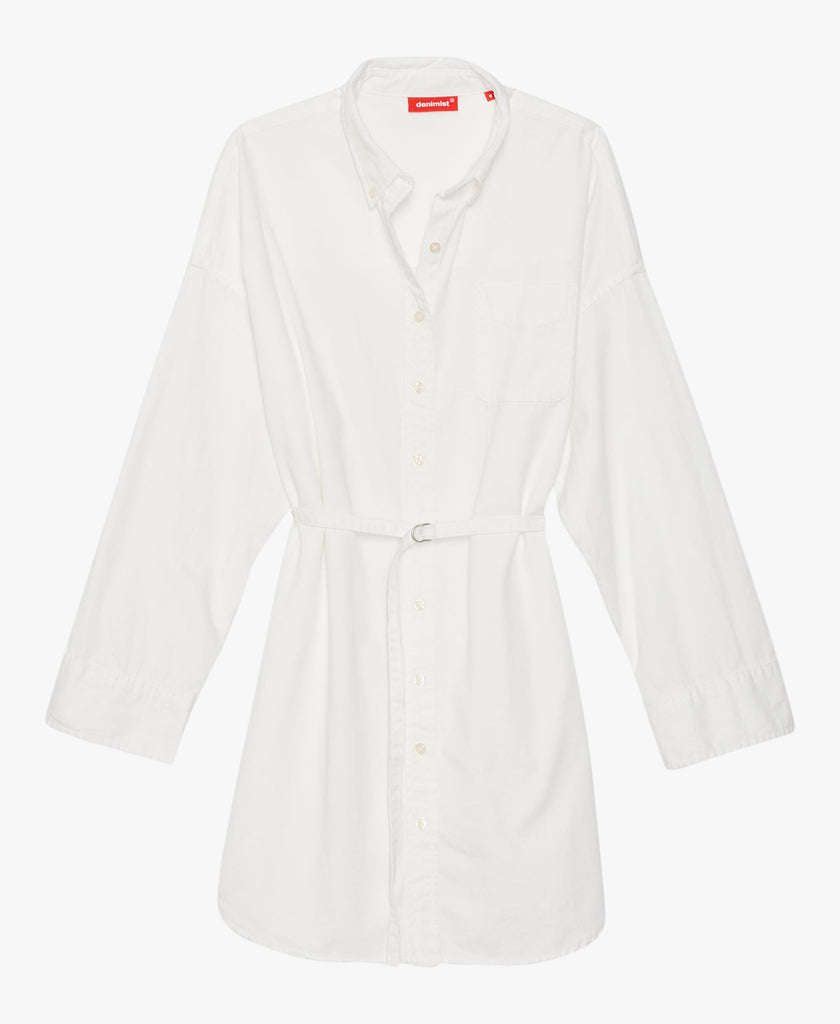 Cotton Belted Shirtdress