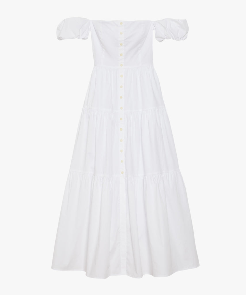 Elio White Maxi Dress