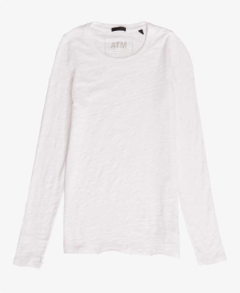 womens white long sleeve tee
