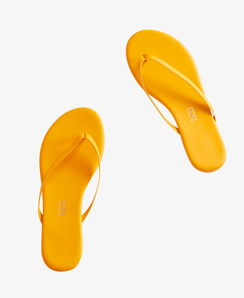 womens leather flip flop
