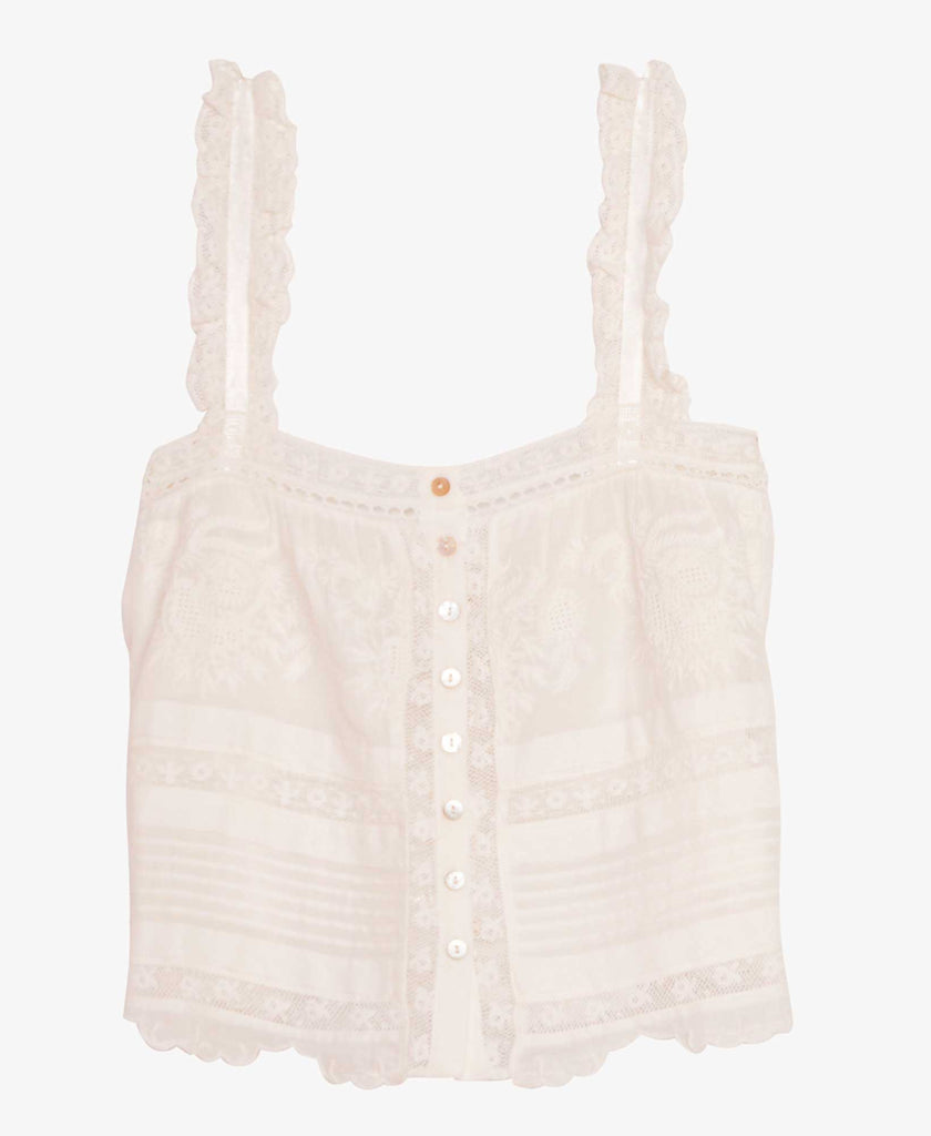 womens white lace tank