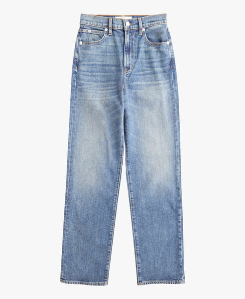 London High Rise Straight Jean Seria
