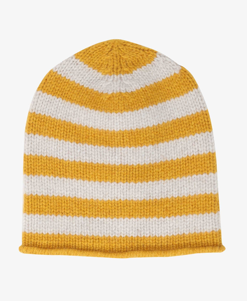 The Elder Statesman Stripe Fisher Beanie