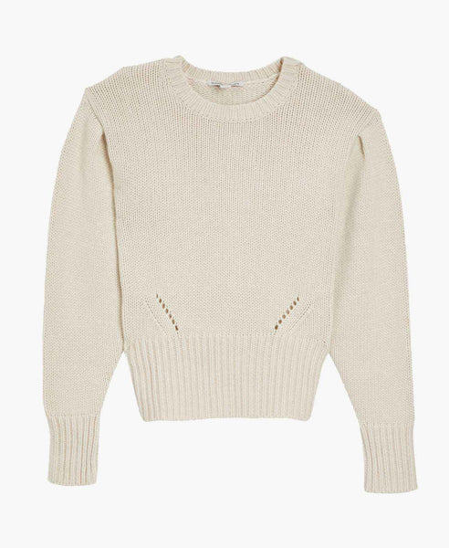Autumn Cashmere Cropped Puff Sleeve Sweater
