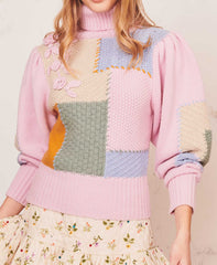 Allan Geometric Sweater Autumn Feast