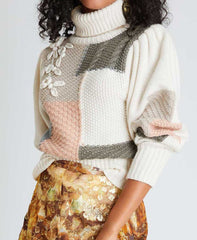 Love Shack Fancy Allan Geometric Sweater