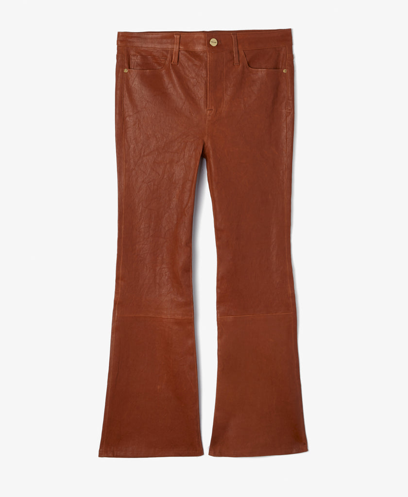 Le Crop Boot-Leg Leather Pants