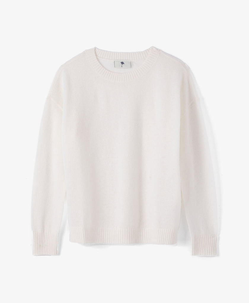 Cashmere Crew Neck Knit Sweater