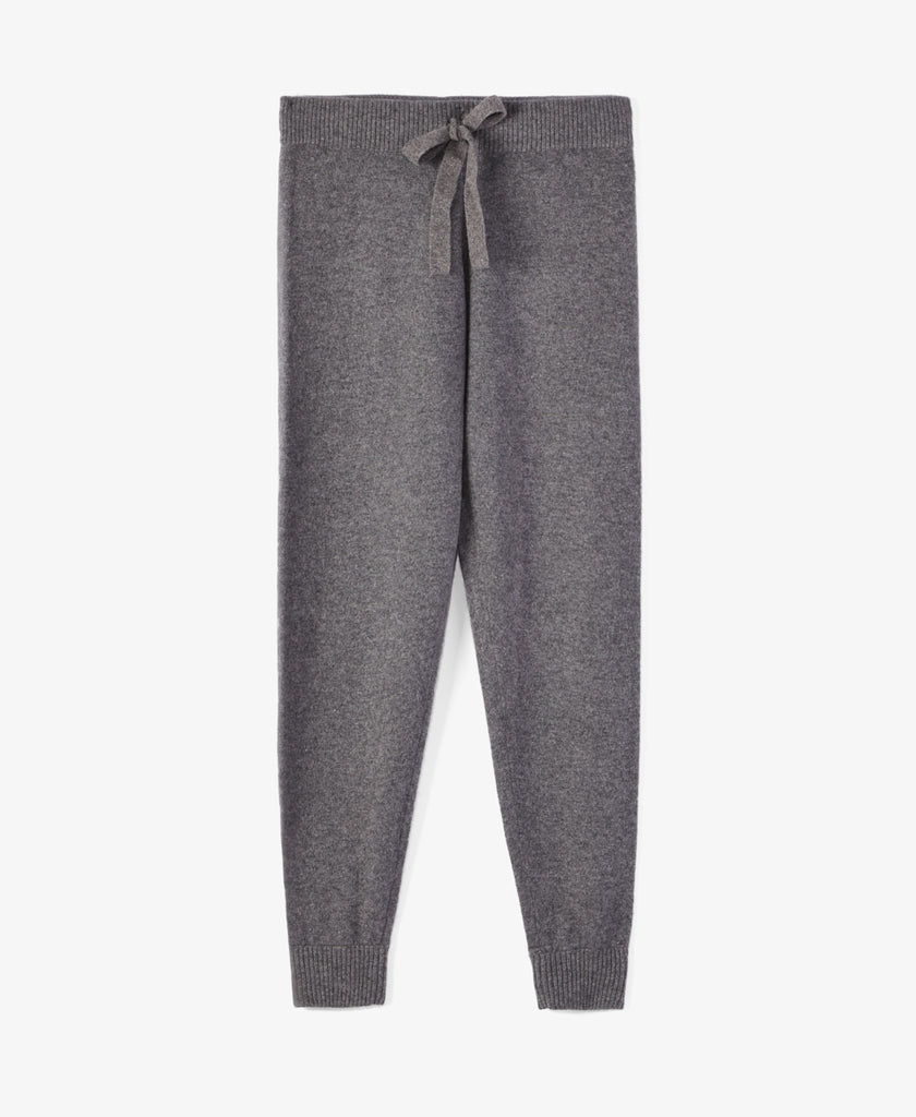 Grey Cashmere Jogger Pants