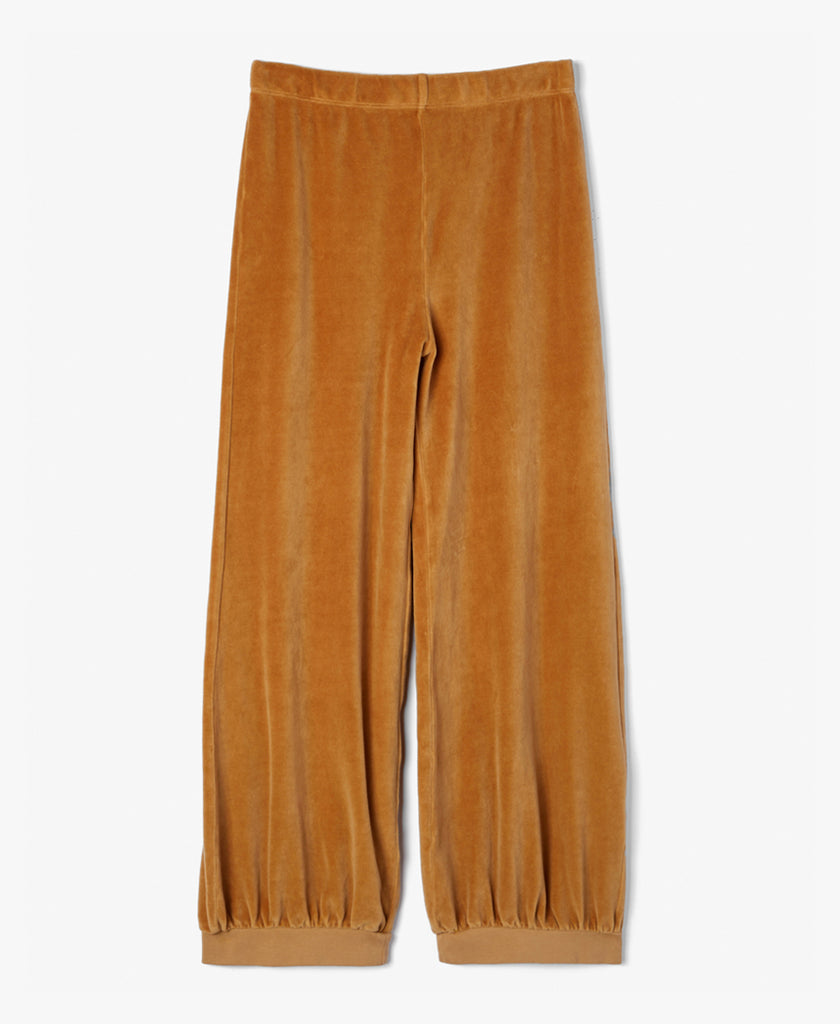 Mustard Velour Harem Sweatpants