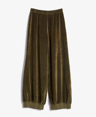Army Velour Slim Harem Sweatpants