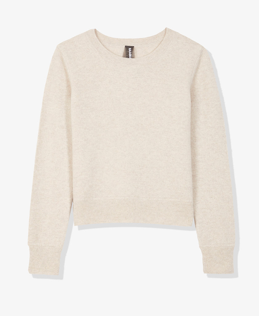 Brushed Cashmere Crewneck Sweater