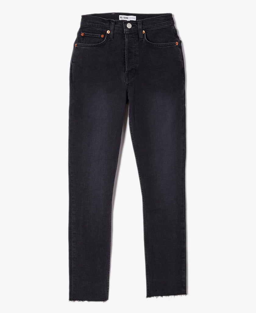 High Rise Stretch Ankle Crop Jean