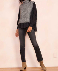 Megan Sleeveless Turtleneck Sweater