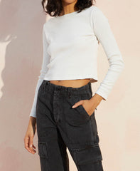 Ribbed Crop Tee