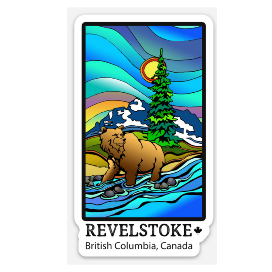 Souvenir - Sticker - Revelstoke River Bear