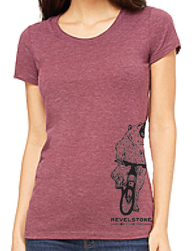 Clothing - Womens T-Shirt - Bear on a Bike