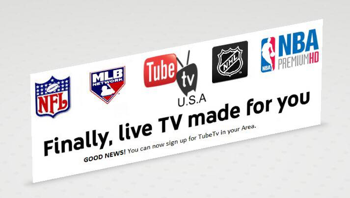 Get Tube Tv USA today and cut the cable cord away!