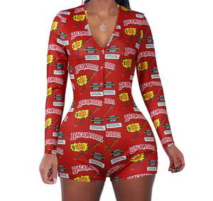 Smokers Dream - Backwood romper short long sleeve sexy pajamas