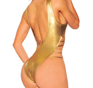 Golden Ticket- Gold One Piece Swimsuit