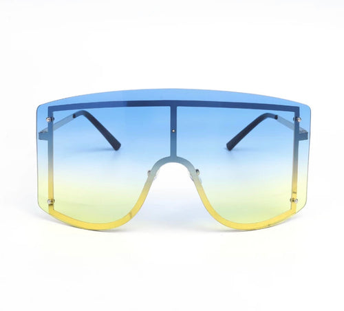 Rise & Shine - Blue oversize sunglasses
