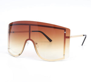 Rise & shine - Brown oversize sunglasses