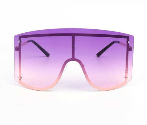 Rise & shine - purple oversize sunglasses
