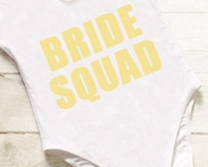 Bride squad - bridesmaid swimsuits