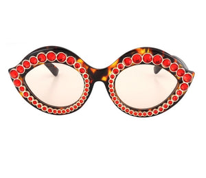 Lip service - lip shape bling sunglasses