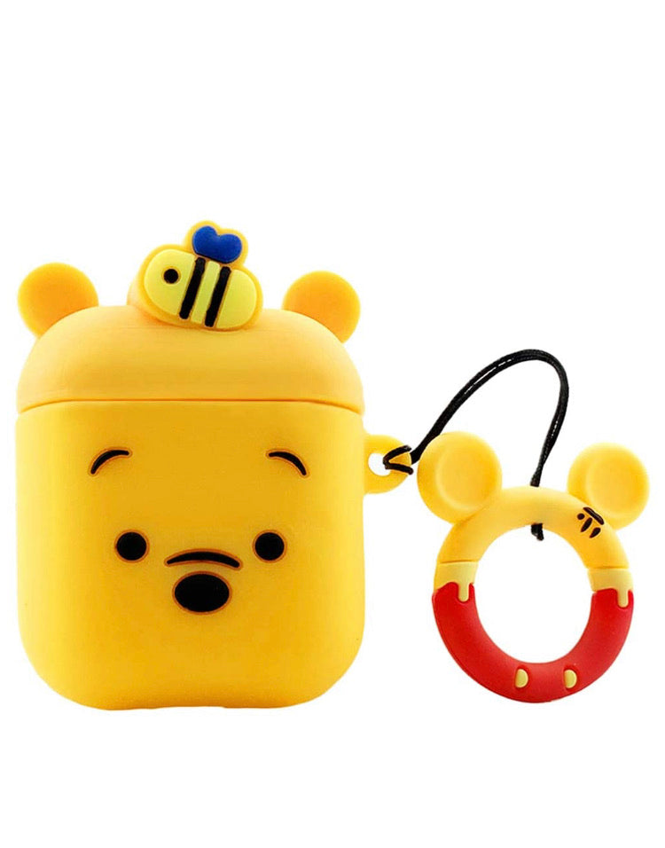 Pooh Bear-3D AirPod case for 1 & 2