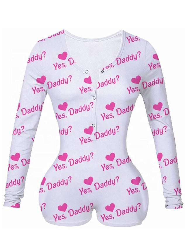 Yes Daddy- romper 1 piece short pajamas