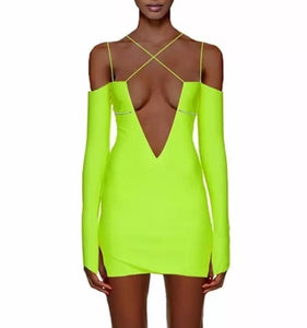Never enough - sexy neon mini dress