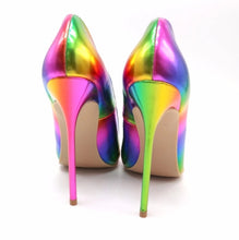Rainbow blast - rainbow high heel shoes