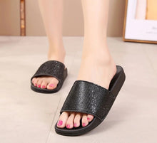 Summer - bling out Rhinestone slide sandals