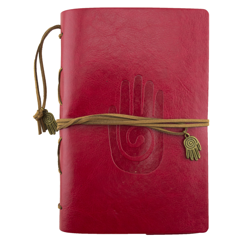 Qi Hand Red Leather Journal Planner Organizer
