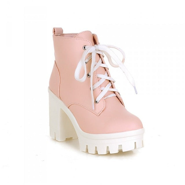 Wide Awake Boots - Pink