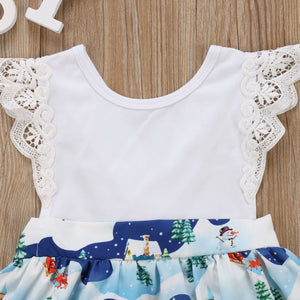 Mini Flower Christmas Dress
