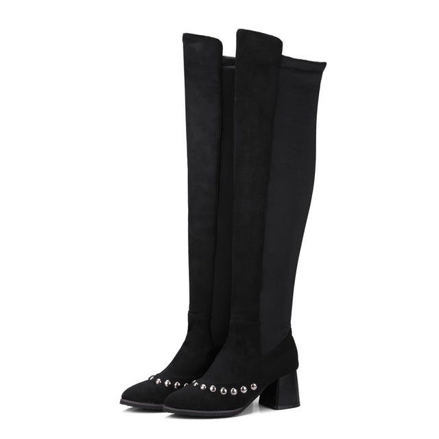 Edgy Chick Over The Knee Boot