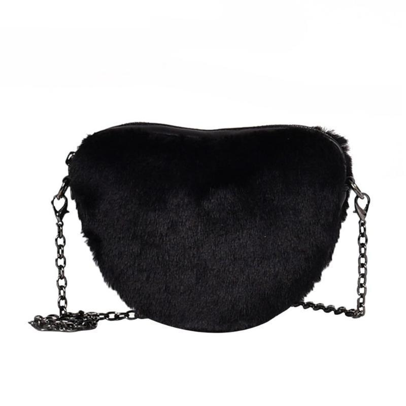 FAUX FLUFFED SHOULDER BAG