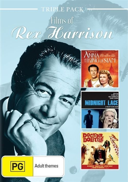 REX HARRISON TRIPLE PACK Anna & the King of Siam/Midnight Lace/Doctor Dolittle