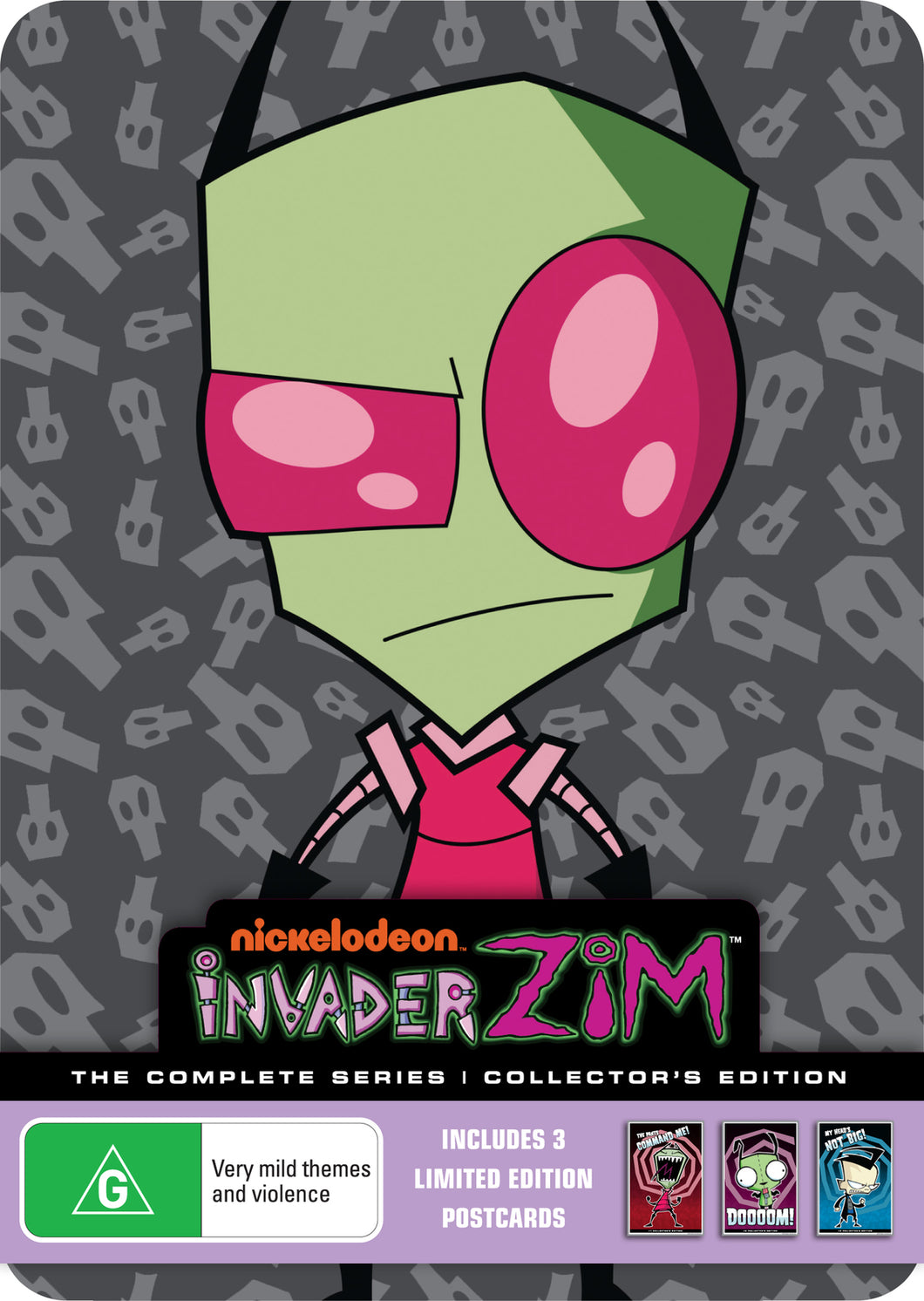Invader Zim - Complete Series Collectors Tin (Inc 3 Postcards)