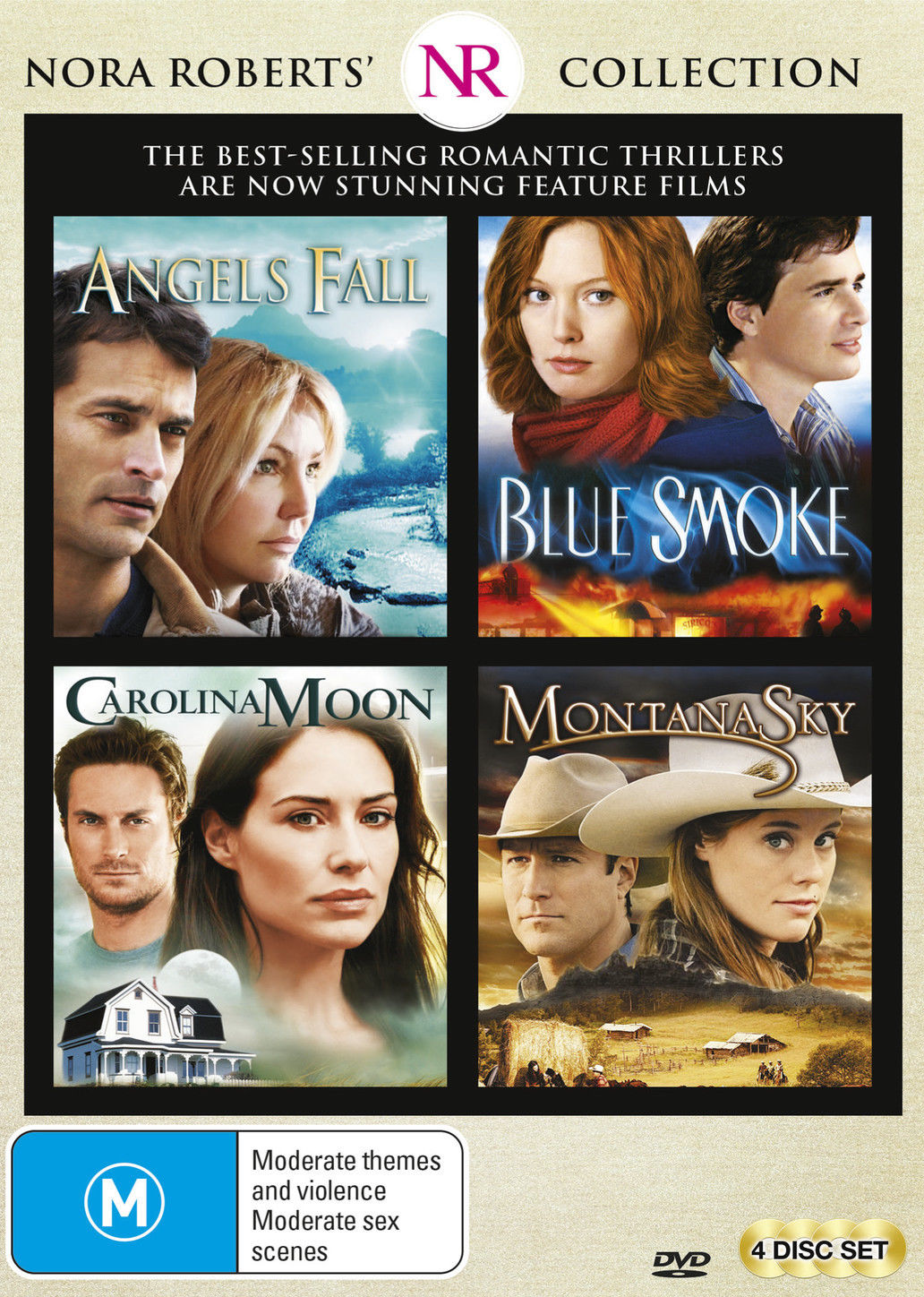 Nora Roberts Collection (Angels Fall / Blue Smoke / Carolina Moon / Montana Sky) DVD