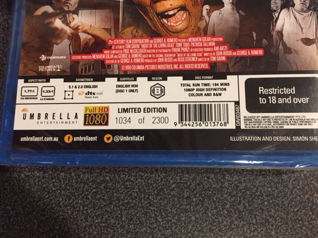 Night of the Living Dead 2 Disc Collector's Edition Blu-Ray