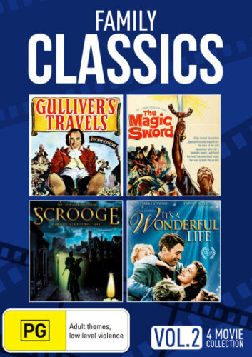 Gulliver's Travels / Magic Sword / Scrooge / It's a Wonderful Life