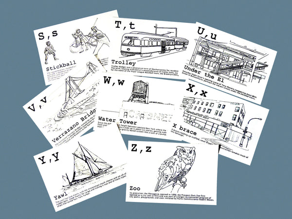 Brooklyn Alphabet Cards