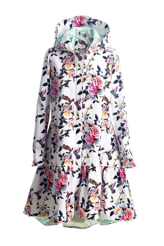 Buy online Waterproof Floral Women Raincoat City Bird by Rain Sisters