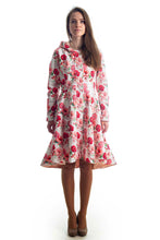 Buy online Red Floral Woman Raincoat City Sun by Rain Sisters